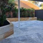 stone retaining wall and tiling northern beaches