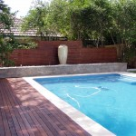 Timber decking for pool