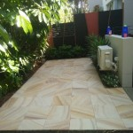 Paved entertainment area northern beaches