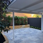 Stone retaining wall and paving northern beaches