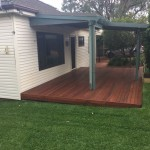 Ground level timber deck northern beaches