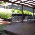 Garden wall, outdoor room project northern beaches