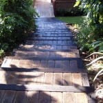 Garden steps and paving