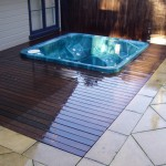 Timber decking spa, pools