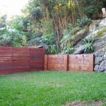 Timber retaining wall northern beaches