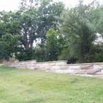 Sandstone garden walls narrabeen